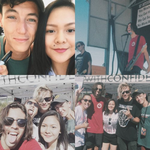 This reviewer hangs out with With Confidence, a pop-punk band from Sydney, Australia. Photo courtesy of Adrienne Pascual