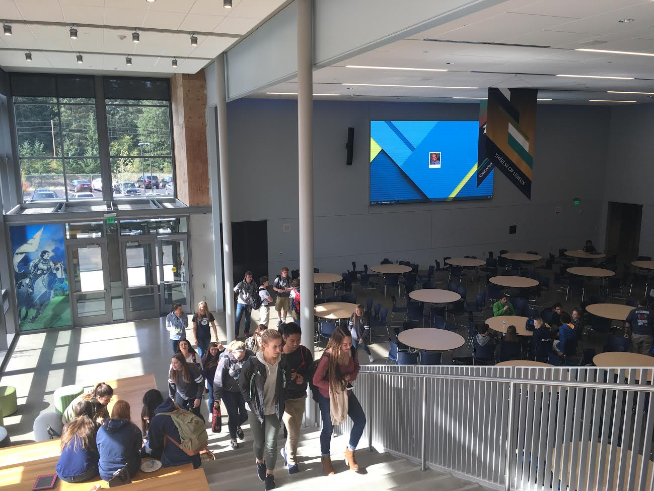 Students enjoy the new features of the Connelly Campus Center. Photo by Cristina Shaffer