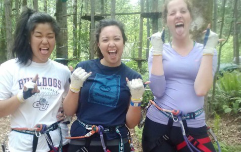 Zip lining at NWTrek