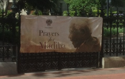 Taken outside of Bishop Tutu's church, South Africans commemorate Mandela using his familial name