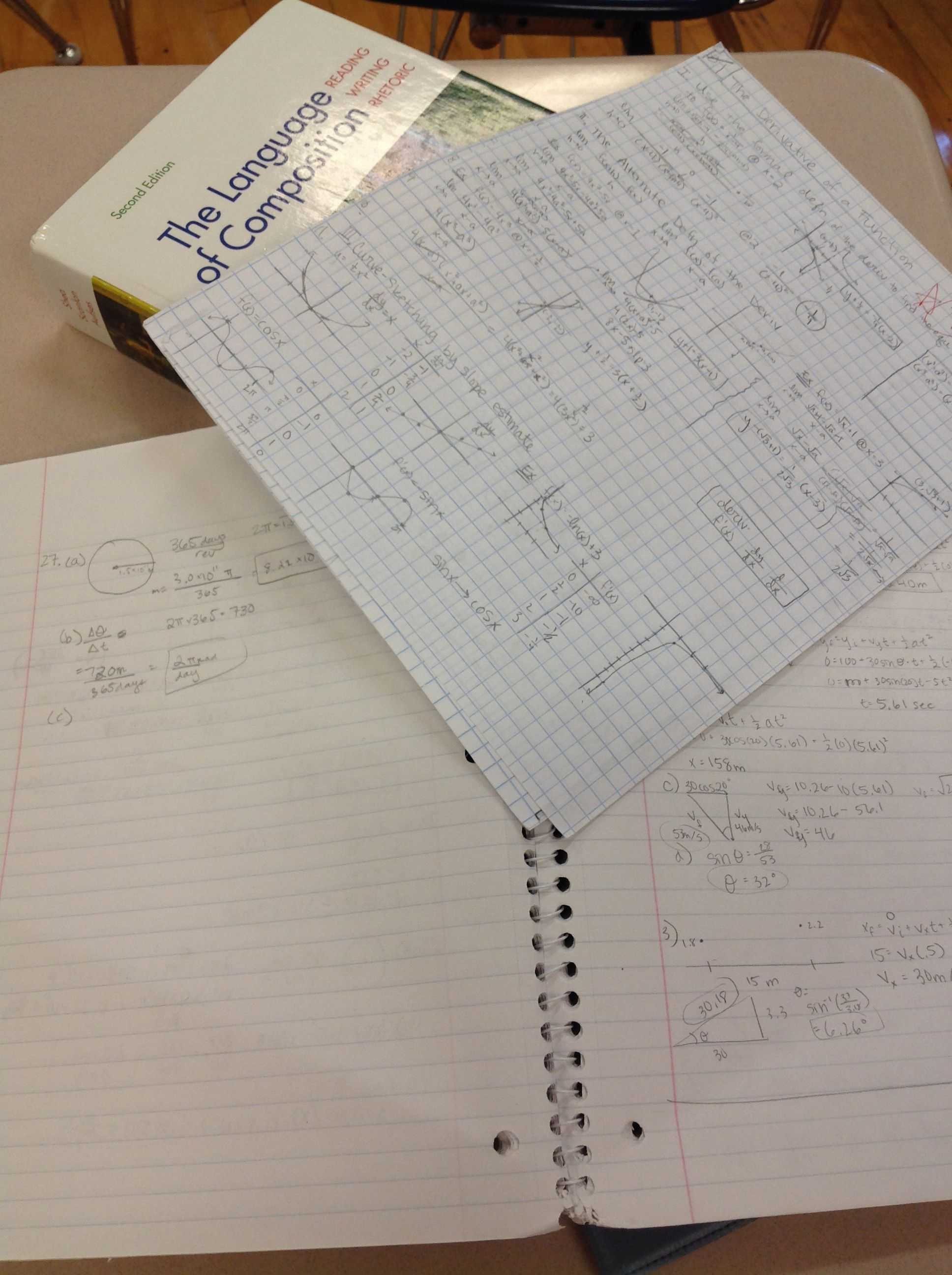 Bellarmine students receive homework from several subjects each day. Photo by Rachael So