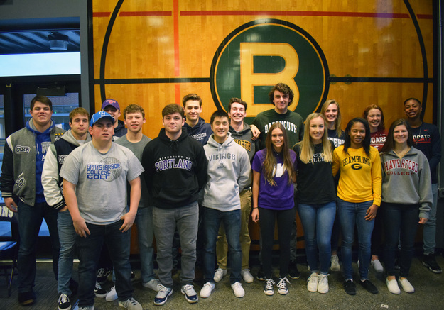 Bellarmine+presents+its+17+student+athletes+who+will+play+in+college.+Photo+by+Craig+Coovert