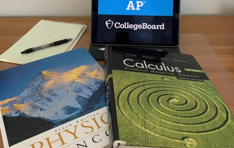 One AP test-taker's desk.