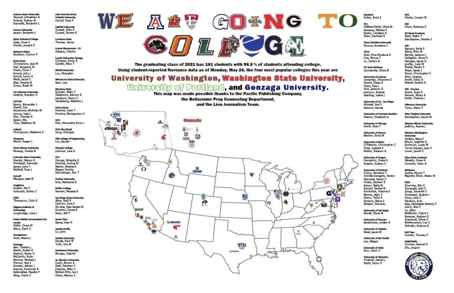 Class of 2021 and their college choices