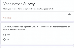 Survey was sent to the student body to give their opinions on vaccination. Photo by Toni Spellacy