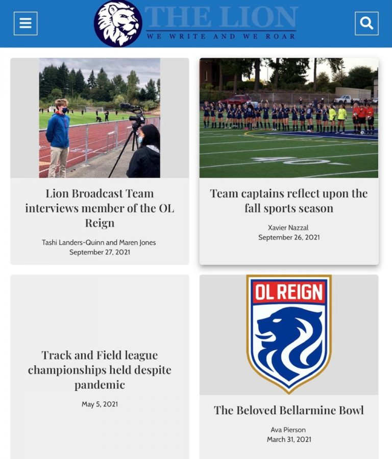 Check out new articles at BellarmineLion.com .